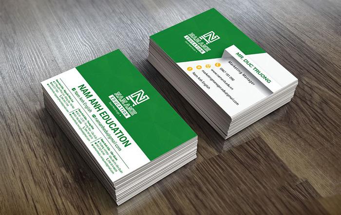 10 mẫu card visit cán màng mờ
